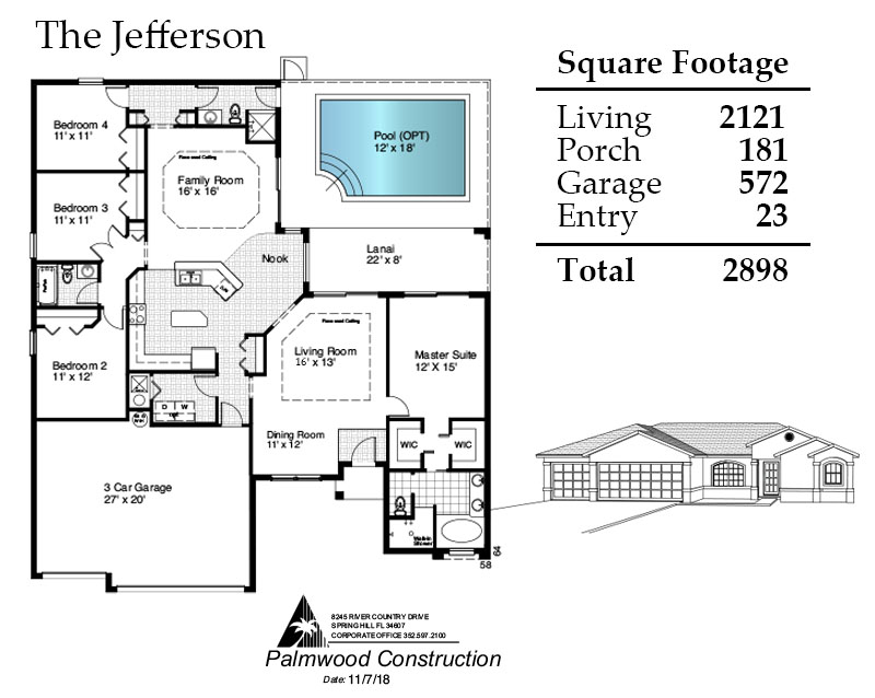 Jefferson Floorplan and Square Footage