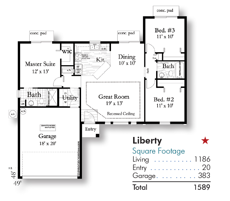 Santa Sobria Floorplan and Square Footage