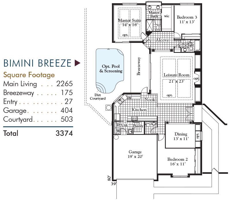 Bimini Breeze Floorplan and Square Footage
